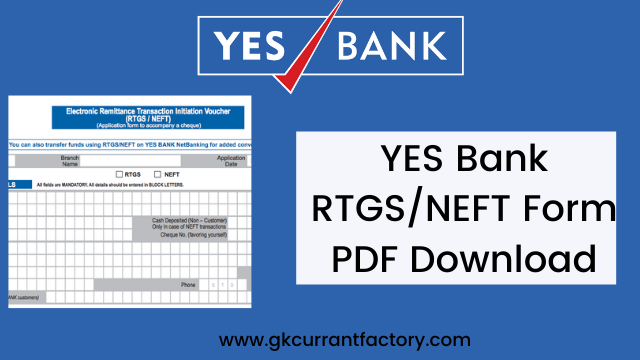 yes bank rtgs/neft form pdf download